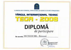 Diploma SM TECH TIMISOARA 2008
