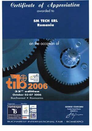 SM TECH diploma tib Bucuresti 2006