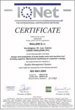 Cedrificat calitate ISO Rolleri