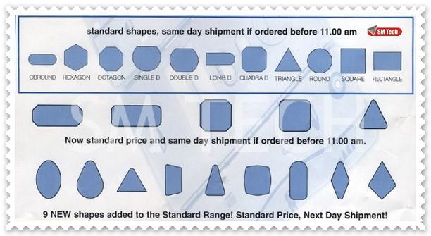 Forme standard scule masini stantat CNC
